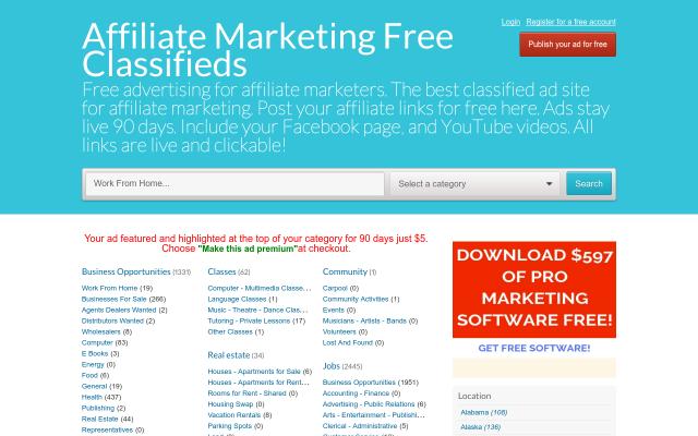 affiliatemarketing.freeglobalclassifiedads.com