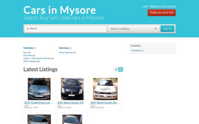 carsinmysore.com