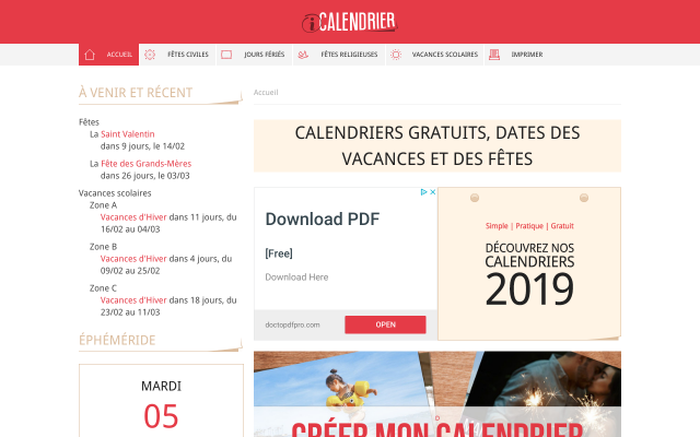 icalendrier.fr