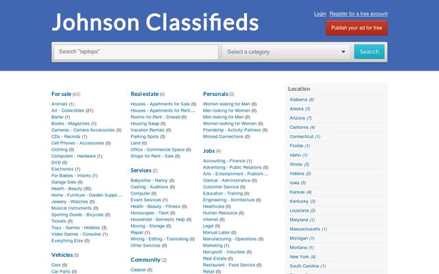 johnsonclassifieds.com