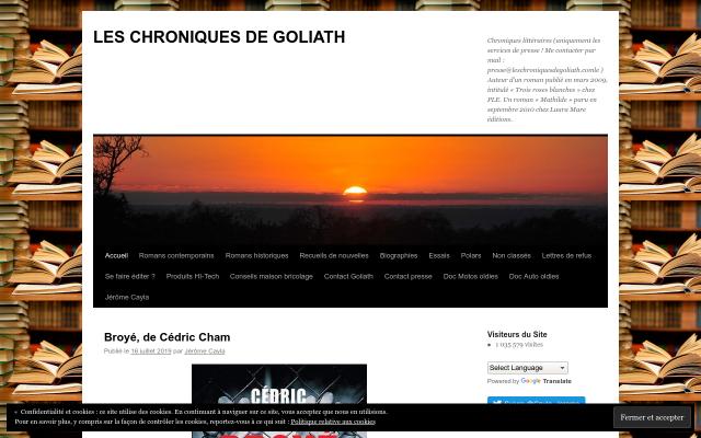 leschroniquesdegoliath.com