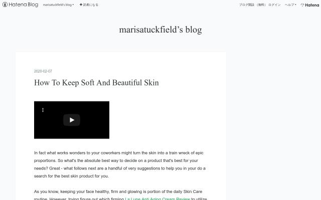 marisatuckfield.hatenadiary.com