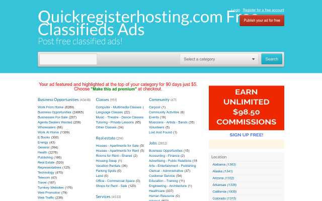 quickregisterhosting.com