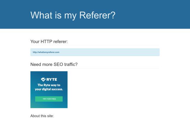 whatismyreferer.com